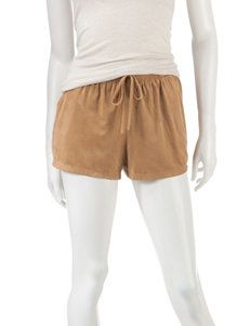Joe Benbasset Solid Color Faux Suede Shorts