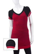 Made For Me To Look Amazing 2-pc. Raglan Sweater Tunic & Beanie Set