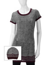 Made For Me To Look Amazing 2-pc. Chevron Knit Tunic & Beenie Set