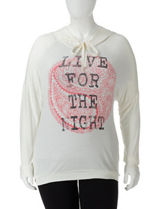 Spoiled Live For The Night Ivory Hoodie – Juniors Plus
