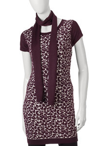 Made For Me To Look Amazing 2-pc. Animal Print Tunic & Scarf Set