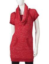 Made For Me To Look Amazing 2-pc. Popcorn Knit Tunic & Scarf Set