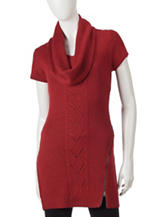 Made For Me To Look Amazing 2-pc. Exposed Zipper Tunic & Scarf Set
