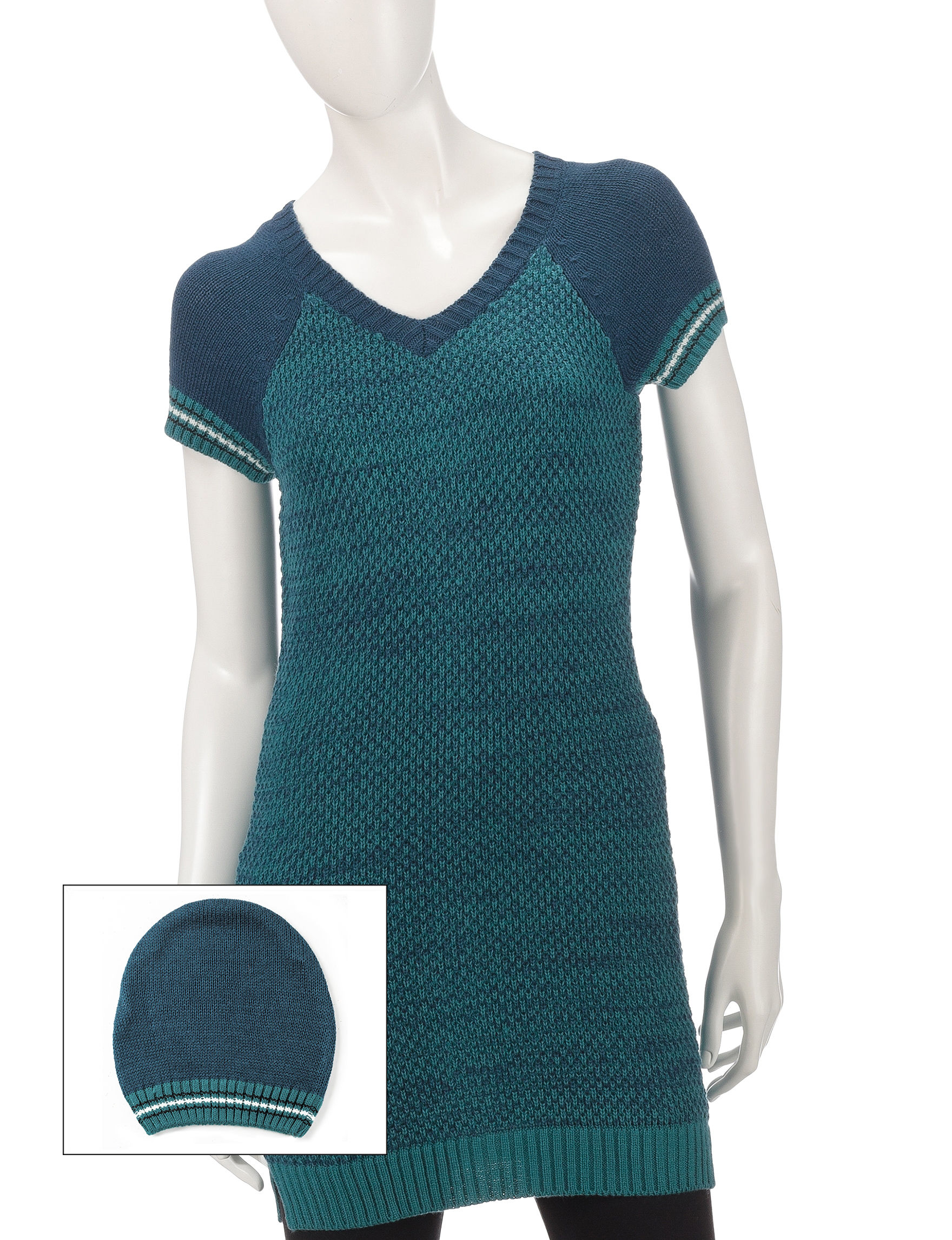 Made for Me to Look Amazing Blue / Jade Sweaters Tunics