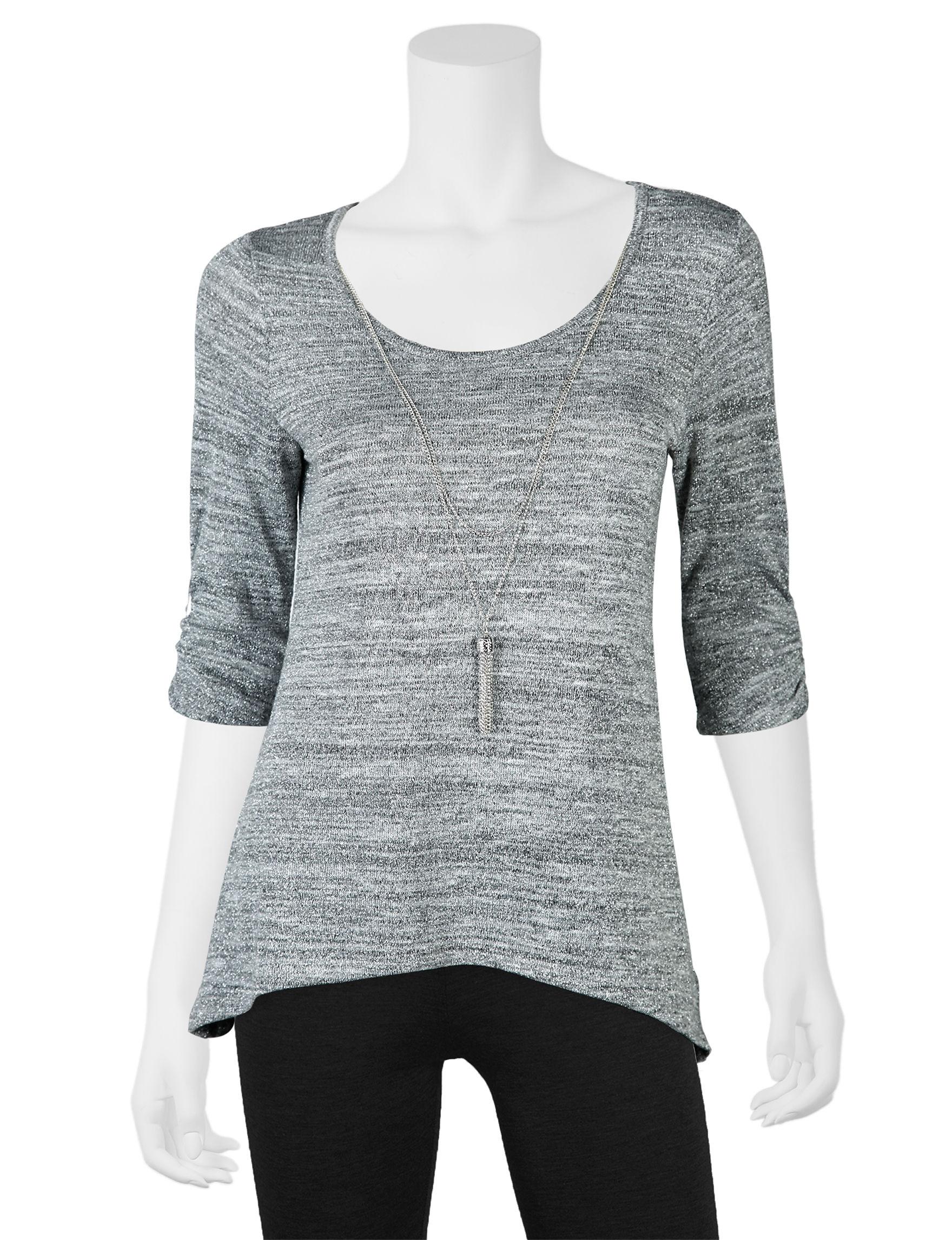 A. Byer Grey Shirts & Blouses