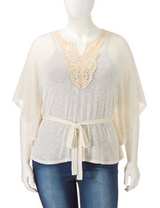 Love Squared Beige Shirts & Blouses