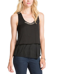 Jessica Simpson Viola Embellished Tiered Top