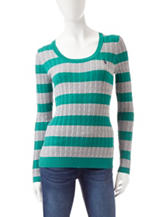 U.S. Polo Assn. Cable Knit Striped Sweater