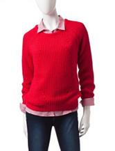 U.S. Polo Assn. Solid Cable Knit Pullover Sweater