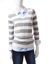 U.S. Polo Assn. Striped Crew Neck Sweater