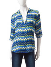 Wishful Park Aztec Print Popover Top