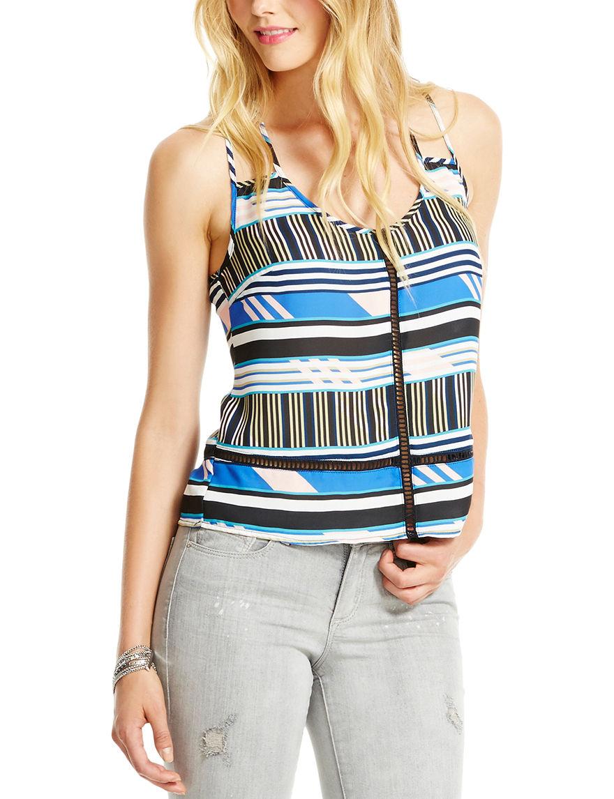 Jessica Simpson Blue Multi Tees & Tanks