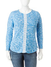 Jessica Simpson Plus-size Marled Pullover Top