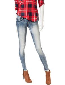 YMI Wanna Betta Butt Medium Light Wash Skinny Jeans
