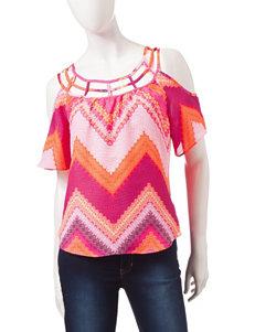 Heart Soul Pink / Orange Shirts & Blouses
