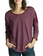 Unionbay® Solid Color Marled Dolman Sleeves Top