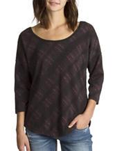 Unionbay® Plaid Dolman Sleeves Top