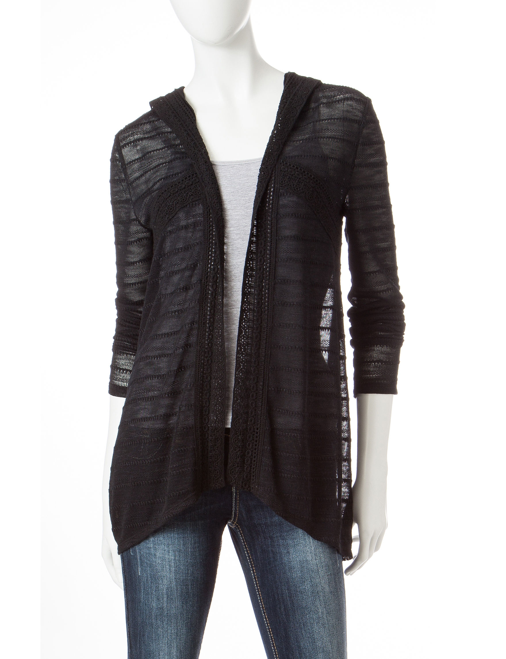 Eyeshadow Black Cardigans