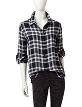 Romeo + Juliet  Couture Plaid Woven Top