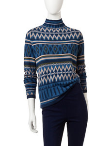 Romeo + Juliet Couture Blue Multi Sweaters