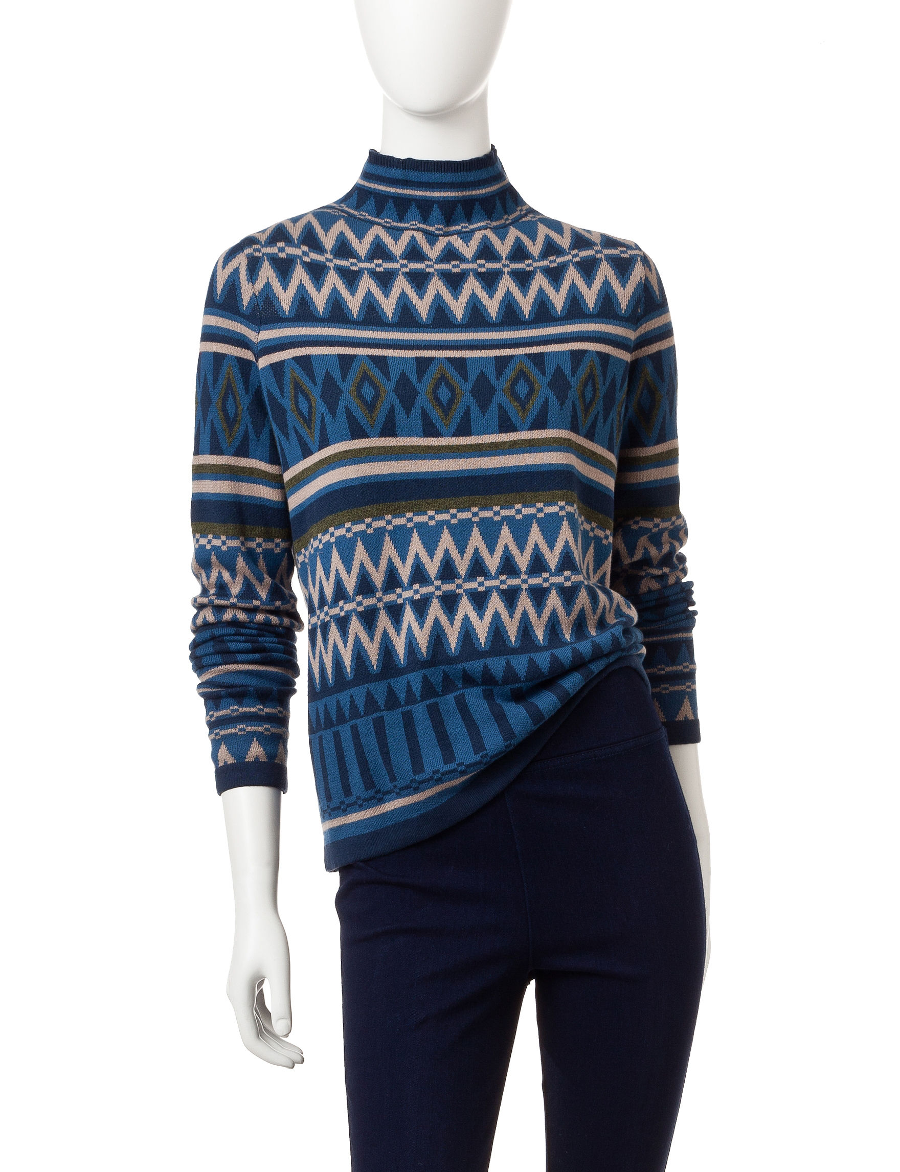 Romeo + Juliet Couture Blue Multi Sweaters
