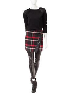 Romeo + Juliet Couture Black / Red Leggings
