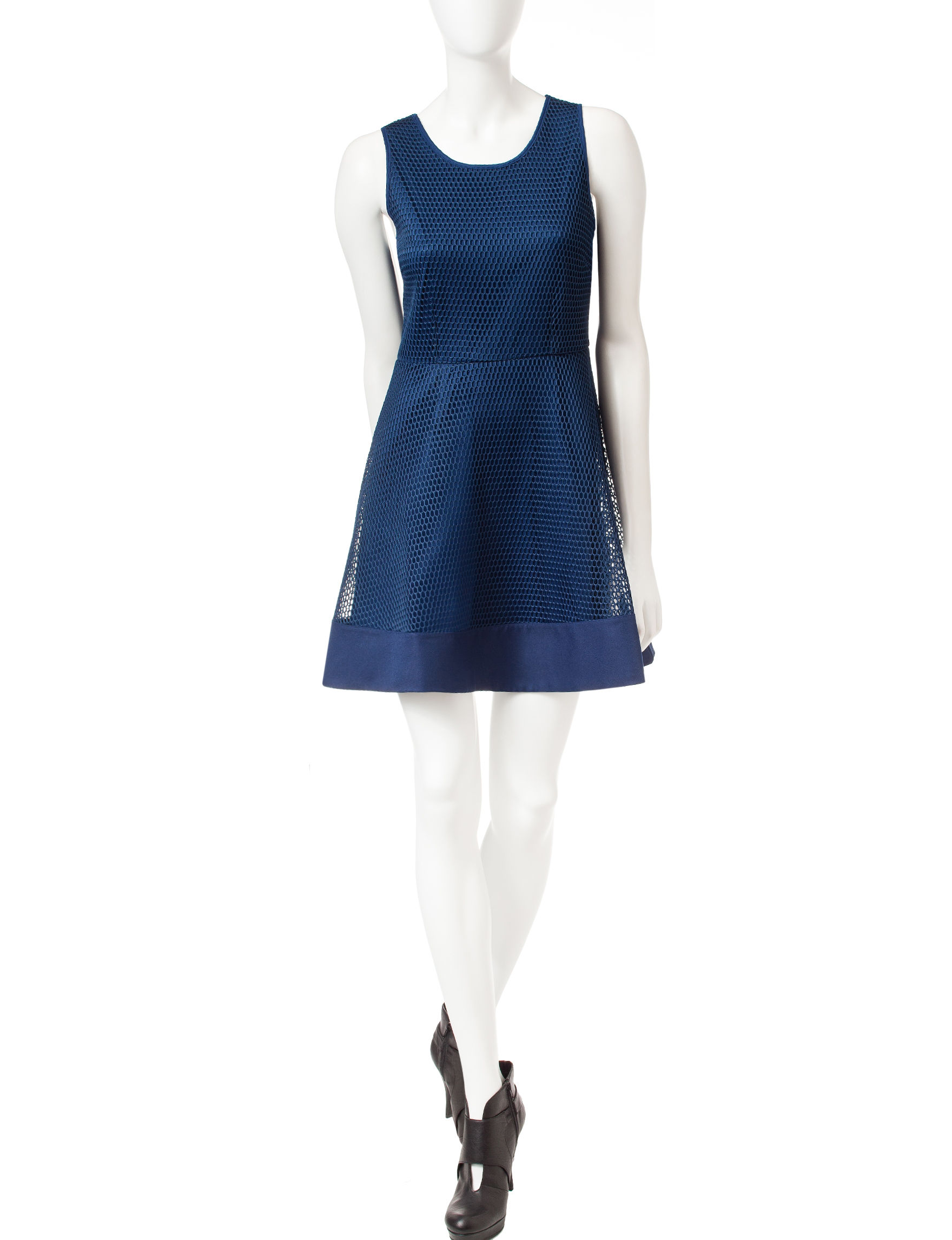 Romeo + Juliet Couture Navy Fit & Flare Dresses