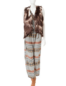 Romeo + Juliet  Couture Tribal Print Woven Jumpsuit