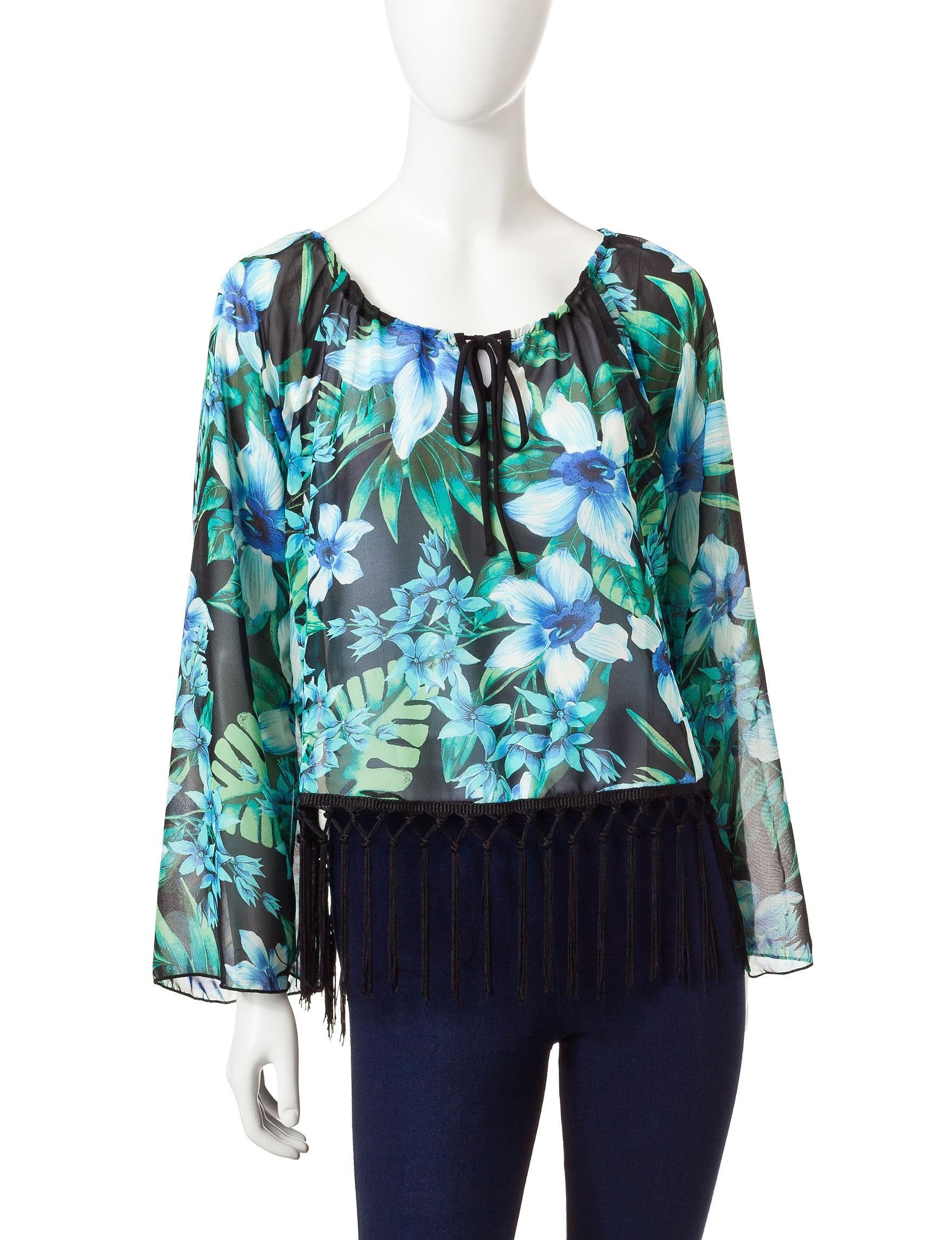 Romeo + Juliet Couture Blue Shirts & Blouses