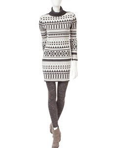 Romeo + Juliet Couture Grey Multi Sweater Dresses