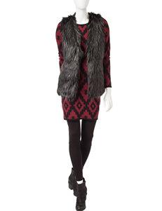 Romeo + Juliet Couture Burgundy Multi Sweater Dresses