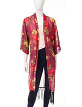 Romeo + Juliet Couture Floral Print Woven Kimono
