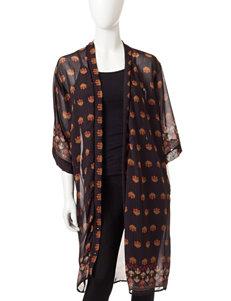 Romeo + Juliet Couture Indonesian Inspired Print Woven Kimono