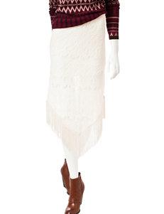 Romeo + Juliet  Couture Lace Fringe Trim Skirt