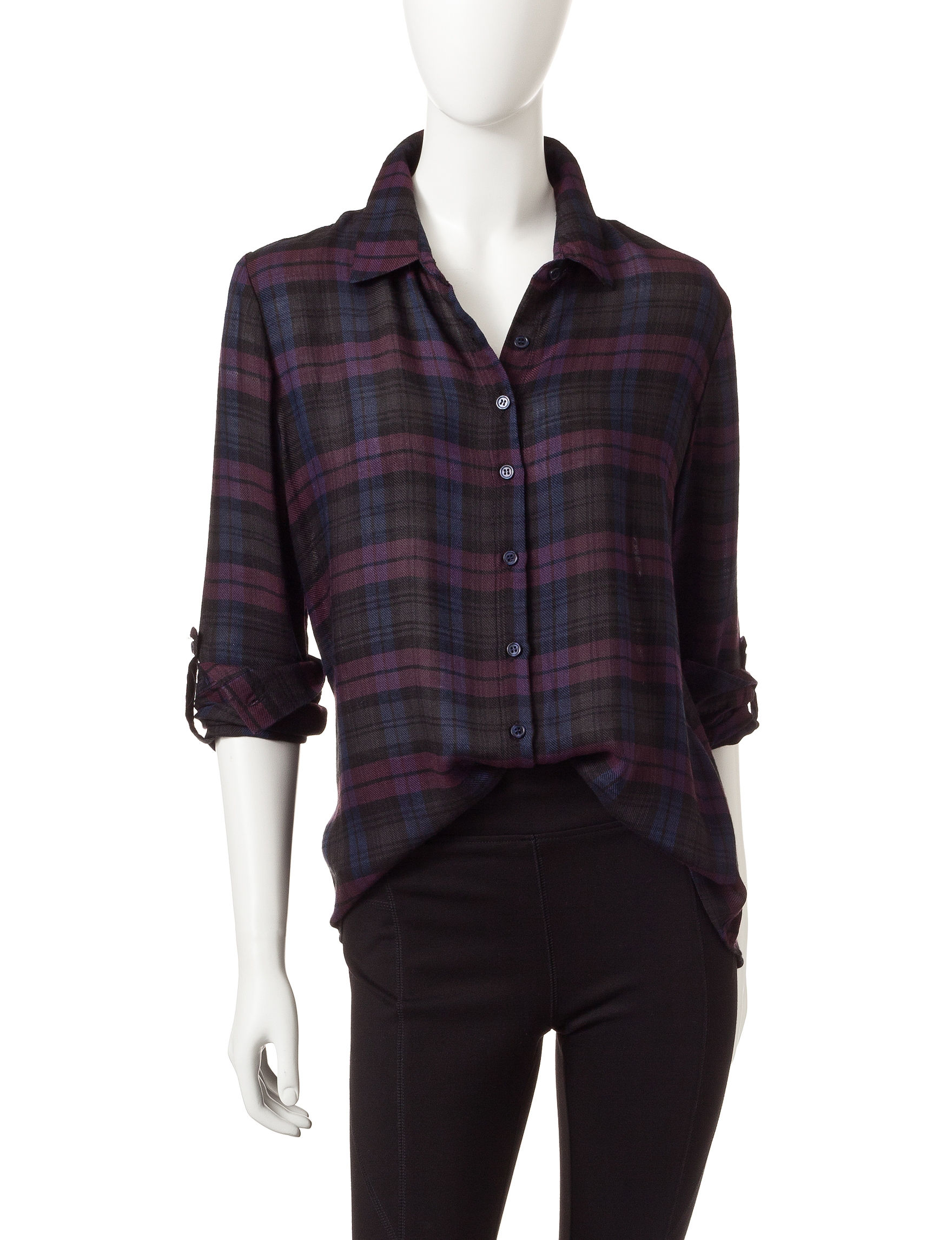 Romeo + Juliet Couture Grey Shirts & Blouses