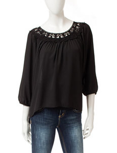 Eyeshadow Black Shirts & Blouses