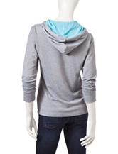 Realtree® Heather Gray & Blue Country Girl Hoody