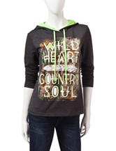 Realtree® Charcoal & Lime Green Country Soul Hoody