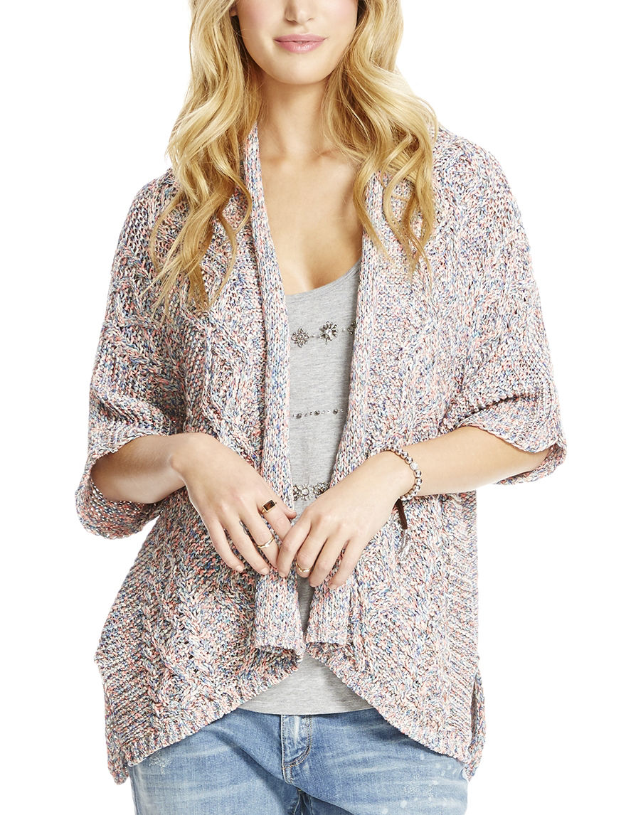 Jessica Simpson Pink Multi Cardigans Shirts & Blouses Sweaters