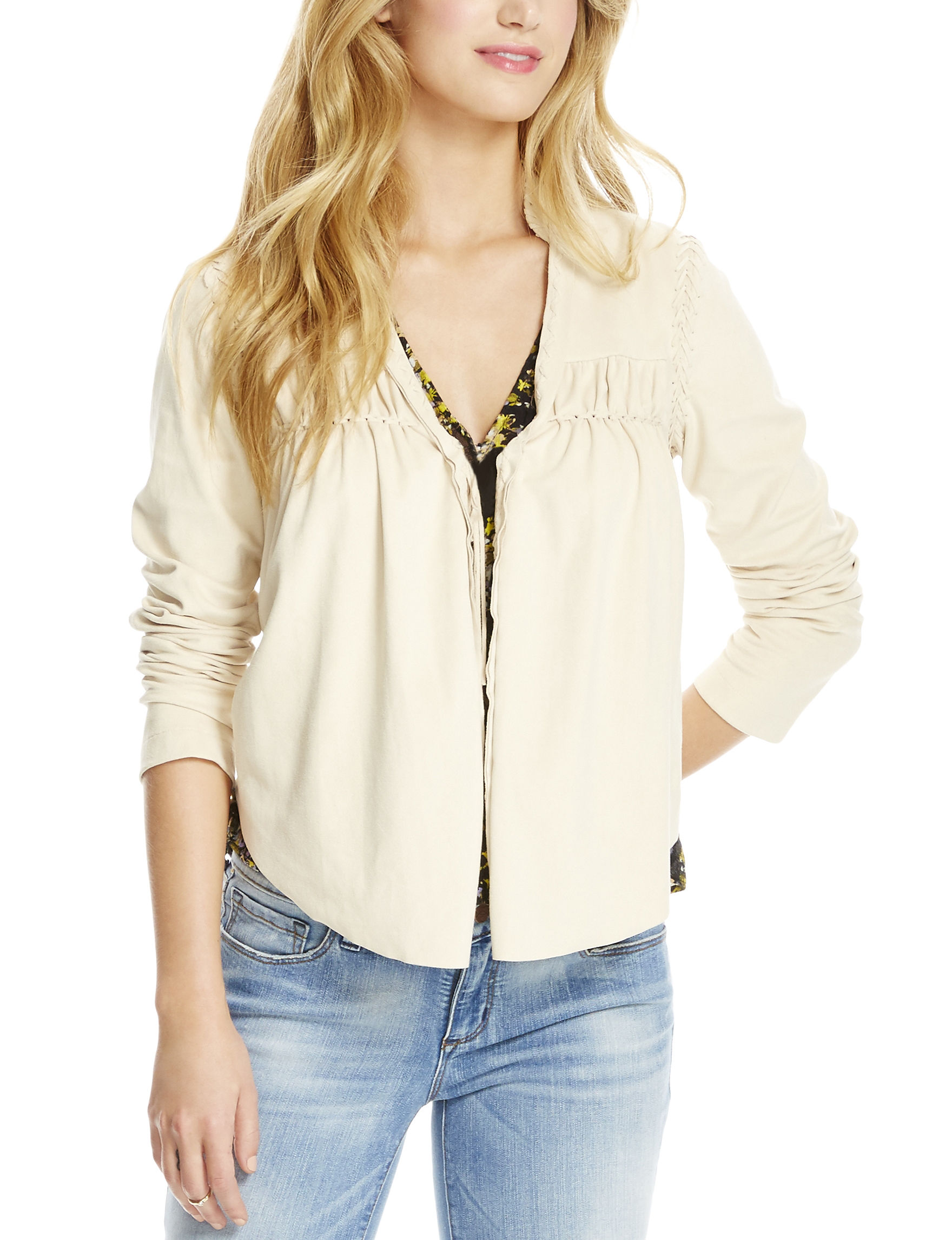 Jessica Simpson Light Beige Lightweight Jackets & Blazers