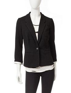 Kensie Black Lightweight Jackets & Blazers