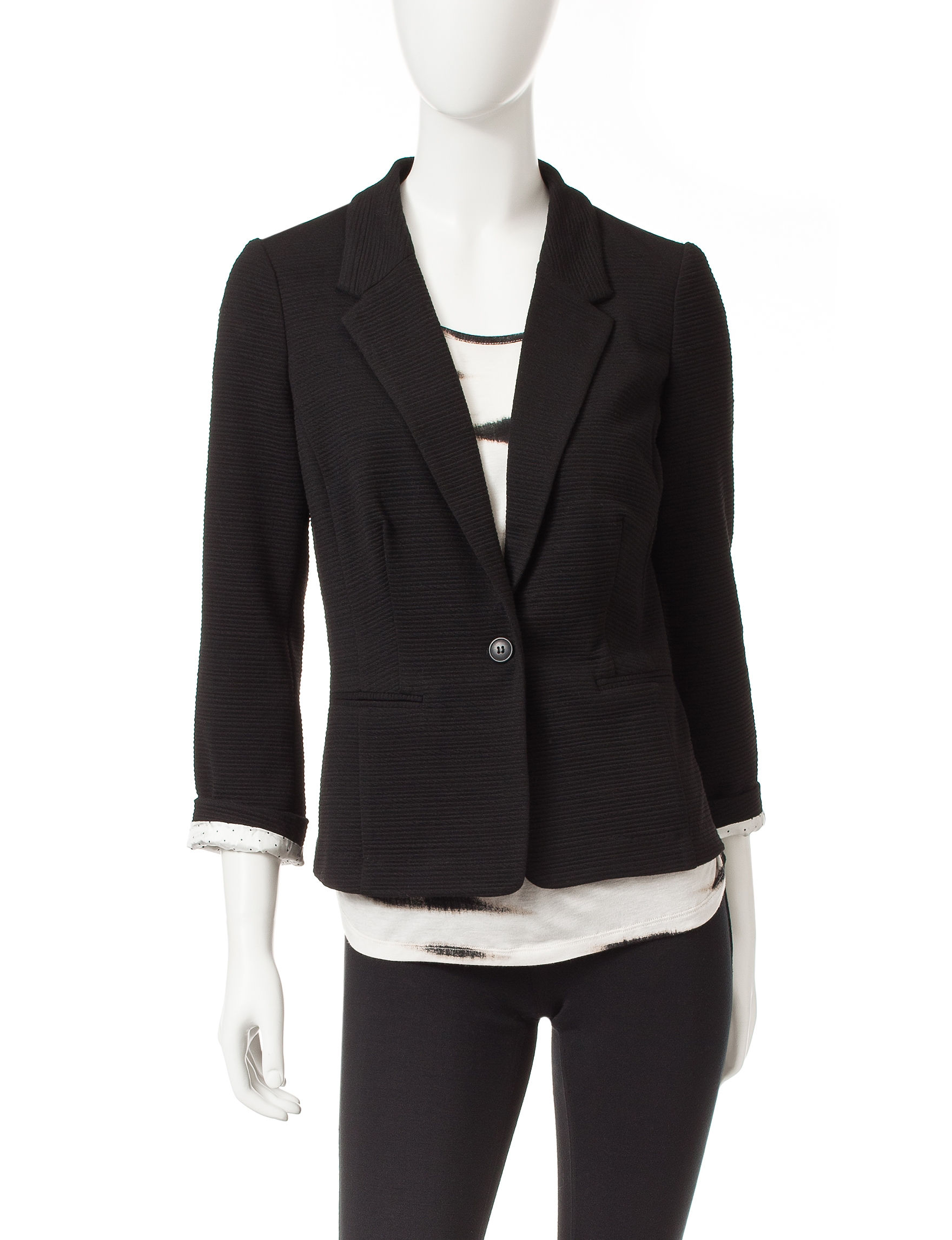Kensie Black Lightweight Jackets & Blazers