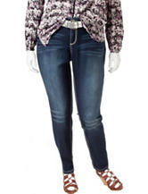 Almost Famous Junior-Plus Belted Bootcut Jeans