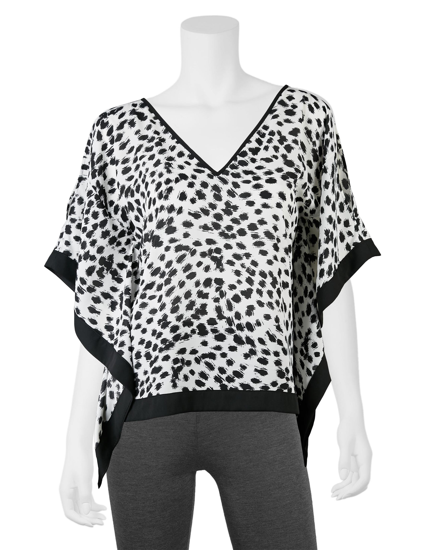 A. Byer Black / White Shirts & Blouses
