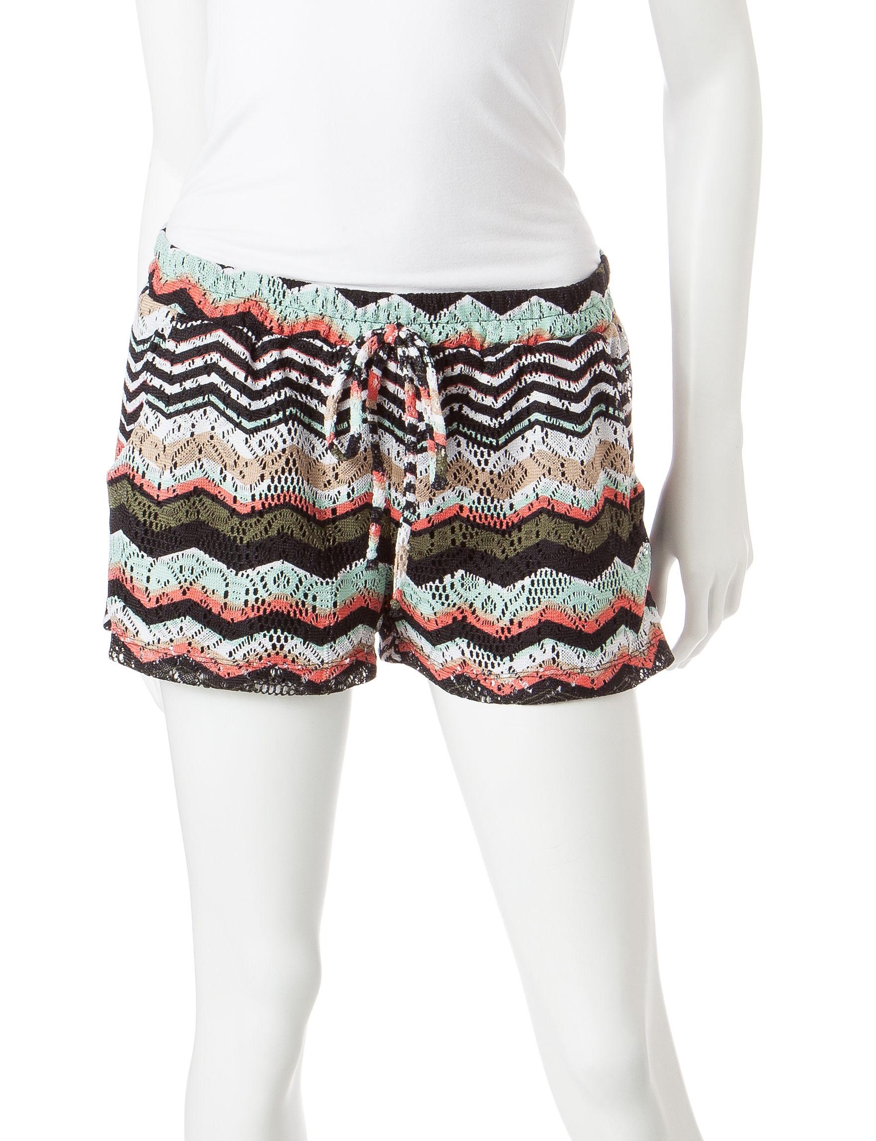 BeBop Black / Coral Soft Shorts
