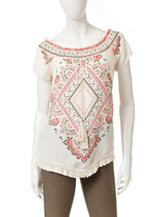 Heart Soul Moroccan Inspired Fringe Top