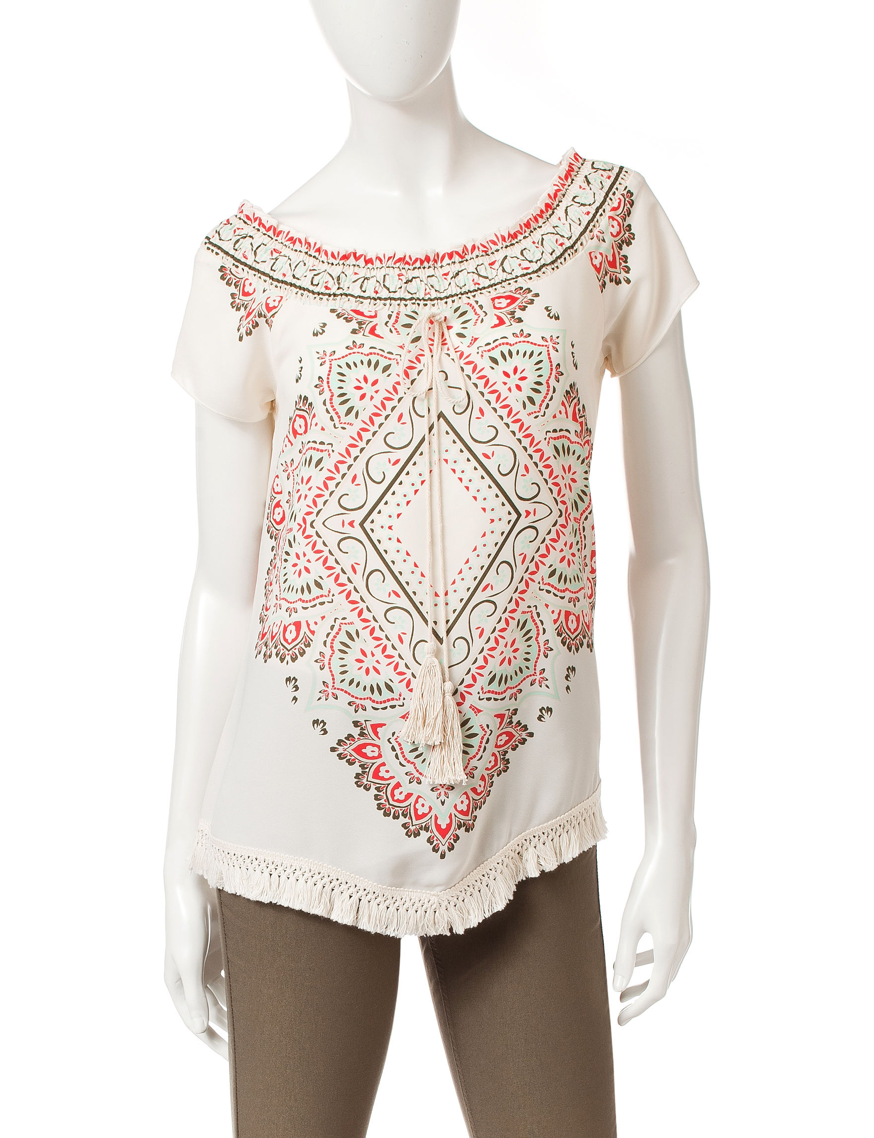 Heart Soul White / Multi Shirts & Blouses