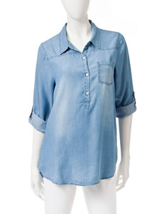 Heart Soul Denim Blue Shirts & Blouses