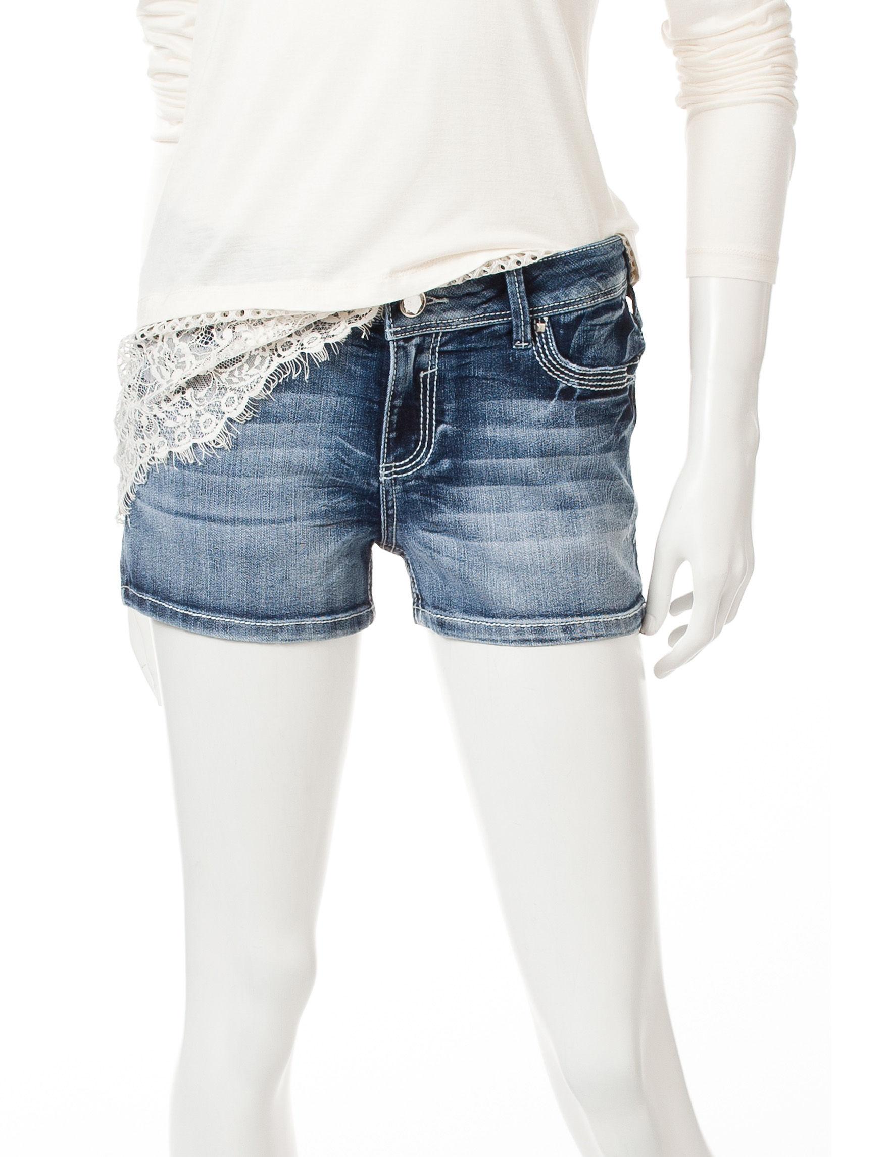 Amethyst Dark Blue - Rinse Denim Shorts