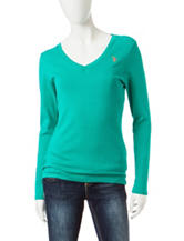 U.S. Polo Assn. Solid Color Knit Top